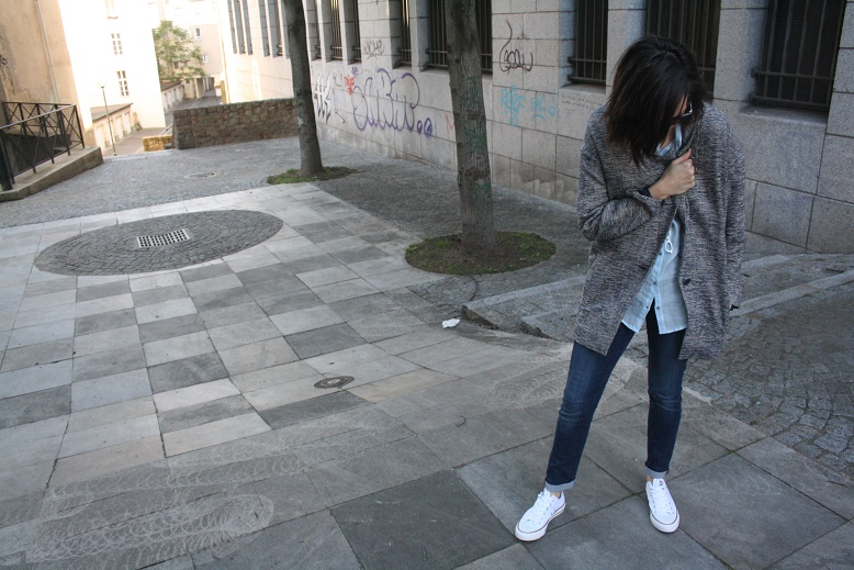 LOOK #13 Blue, Denim & Converse|Blog Mode|Nantes|